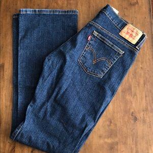 Levi Boot Cut Dark Wash Jeans